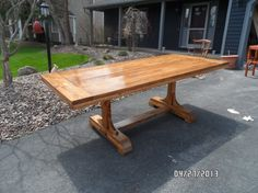 Trestle Pedestal Table - Kreg Jig Owners Community