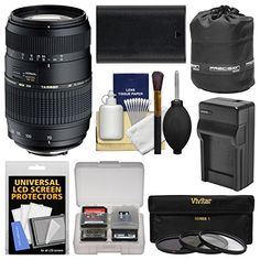 Introducing Tamron 70300mm f456 Di LD Macro 12 Zoom Lens with LPE6 Battery  Charger  3 Filters  Pouch  Kit for Canon EOS 6D 7D 70D 5D Mark II III DSLR Cameras. Great Product and follow us to get more updates! Nikon D3100, Sony A6000, Iphone 6, Dslr Camera Reviews, Rebel, Digital Camera Lens, Camera Photos, Canon Zoom Lens, Photo Lens