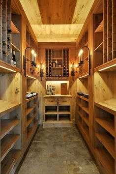 unfinished basement decorating ideas | wine cellar with stylish