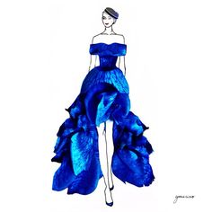 Grace Ciao is a fashion illustrator from Singapore. Her style mainly involves conceptualizing creative fashion outfits by integrating real flower petals into her sketches Arte Fashion, Floral Fashion, Trendy Fashion, Fashion Dresses, Grace Ciao, Flower Dresses, Nice Dresses, Fashion Illustration Dresses, Fashion Illustrations