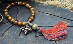 Jade gemstone wrist mala bracelet - look4treasures, $32.95