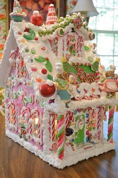 The Love of Christmas! Personalized Wired Wood Gingerbread House