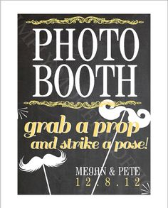 chalkboard theme wedding photo booth sign by xSimplyModernDesignx