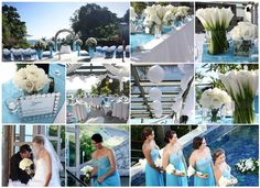 blue theme wedding