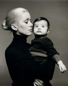 Catherine Deneuve and Chiara Mastroianni by Richard Avedon