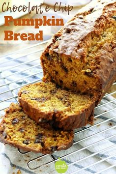 The best chocolate chip pumpkin bread recipe made from scratch that is super easy! This pumpkin bread is very moist is packed with chocolate chips and makes the perfect breakfast snack dessert or teacher gift! Lunch Box Recipes, Healthy Dessert Recipes, Snack Recipes, Muffin Recipes, Brunch Recipes, Breakfast Recipes, Lunch Ideas, Breakfast Ideas, Meal Ideas