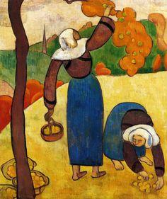 Emile Bernard, Breton Peasants, 1889
