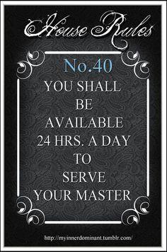 BDSM House Rules No 40
