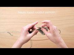 Novita neulekoulu: Konttineule - YouTube