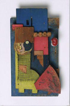 Kurt Schwitters, Merz Konstruktion, 1921, bois peint et papier, 36,8 x 21,6 cm, Philadelphie, Museum of Art