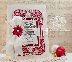 Рождественская открытка внесении Идеи по Бекка Feeken помощью Quietfire дизайн благословлены Рождество Саншайн и Чародеев Regal Frames - www.amazingpapergrace.com