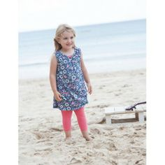 Frugi Παιδικό Αμάνικο Μπλουζοφόρεμα με Σούρα – Indigo Floral Birdie - Sunnyside Indigo, Fashionista Kids, Shirt Blouses, T Shirt, Little Ones, Sunnies, Organic Cotton, Summer Dresses, Stylish