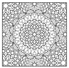 Mandala Art, adult coloring page Doodle Coloring, Mandala Coloring Pages, Coloring Book Pages, Printable Coloring Pages, Coloring Sheets, Mandala Pattern, Mandala Art, Colorful Drawings, Colorful Pictures