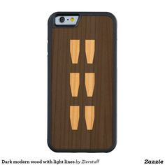 Dark modern wood with light lines carved® cherry iPhone 6 bumper