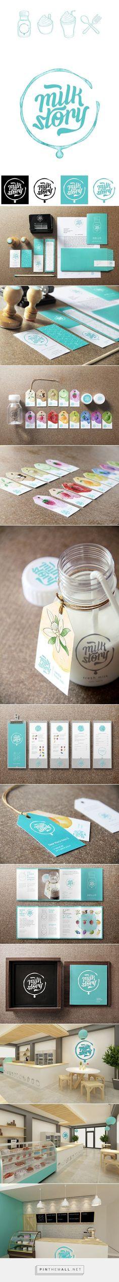 Milk Story Brand Identity on Behance - created via :
