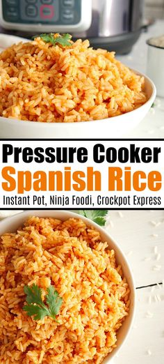 Pressure cooker Mexican rice is a great side dish made in your Instant Pot Crockpot Express or Ninja Foodi Tender Spanish rice everyone will love mexican spanish rice pressurecooker ninjafoodi instantpot ninjafoodirecipes thetypicalmom spanishrice # Rice Recipes For Dinner, Instant Pot Dinner Recipes, Mexican Food Recipes, Healthy Recipes, Easy Instapot Recipes, Instant Recipes, Flautas, Best Instant Pot Recipe, Comida Latina