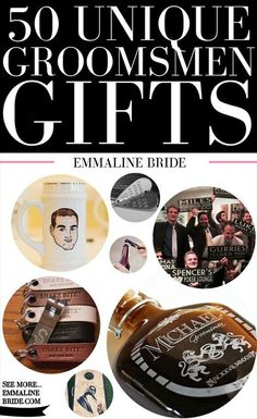 50 Most Unique Groomsmen Gifts via http://emmalinebride.com/groom/unique-groomsmen-gifts-2015/:
