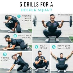 10 Fast Tips To Improve Your Fitness Outlook Ankle Stretches, Stretching Exercises, Ankle Mobility Exercises, Weight Training, Weight Lifting, Body Weight Squat, Preparation Physique, Deep Squat, Le Pilates