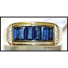 Genuine For Men Blue Sapphire Diamond Yellow Gold Ring Sapphire Pendant, Blue Sapphire Rings, Sapphire Earrings, Sapphire Diamond, Yellow Gold Rings, Ruby Rings, Natural Gemstones, Turquoise Bracelet, Rings For Men