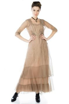 Mother of the Bride Dresses by Nataya Vintage Inspired Fashion, Vintage Inspired Dresses, Vintage Style Dresses, Victorian Fashion, Victorian Dresses, Beaded Flapper Dress, Bustle Dress, Plus Size Gowns, Evolution Of Fashion