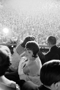 Jacqueline Kennedy attending the inauguration of her husband, President John F. Kennedy.