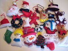 Sale  Felt  Christmas Ornament set of 20 by SandysCorner on Etsy, $40.00