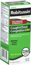Adult Robitussin Peak Cold Cough + Chest Congestion DM Liquid Maximum Strength   $7.49