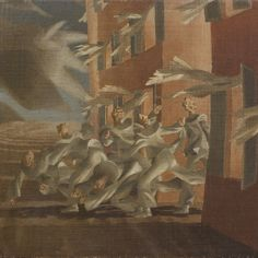 John Armstrong (British artist | John Armstrong (1893-1973), Holocaust, c.1950-53. Oil on canvas on ...