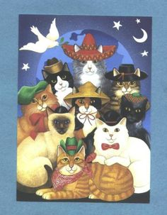 OZ postcard —   Cats of the World at Christmas  (622x800)