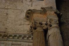 Chiesa di San Salvatore, Spoleto. Dettagli dell'interno, V secolo (?)