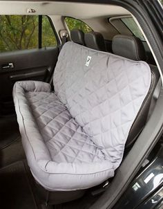 Quilted Back Seat Protector With Bolster Offers A Comfortable Space To Your  Pet.