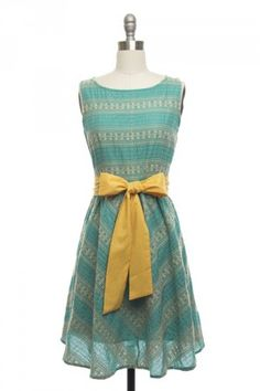 Team Teal Dress- (help, i can't stop myself, I love allll of this shop) Blue And Yellow Dress, Teal Yellow, Indie Fashion, Vintage Fashion, Vintage Style Dresses, Trends, Retro Dress, Dress Skirt, Dress Lace