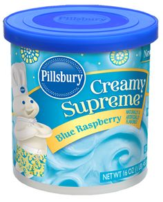Raspberry Frosting - Top your cakes, cookies and desserts with Pillsbury® Blue Raspberry Frosting. Birthday Smiley, Pillsbury Dough, Raspberry Frosting, Beef Soup Recipes, Sugar Free Desserts, Frozen Birthday Party, Baking Supplies, How Sweet Eats, Cute Food