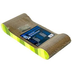 Catit Style Scratcher with Catnip, Jungle-Stripe Lounge - Combining contemporary shapes with stylish patterns, the Catit Style Scratching Board is a modern twist on conventional scratchers. The Catit Style Scratching Board provides your cat with a corrugated scratching surface, while helping to protect your furniture from claw damage. A cat's need to sc...