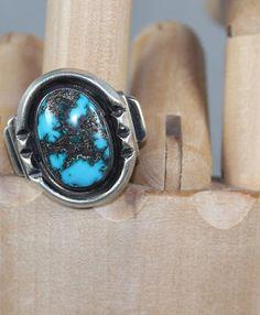 $275 Striking Godber or Burnham Turquoise Ring, Jewelry by Navajo