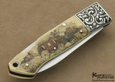 Jess Horn Custom Knife Nate Posner's Knife Michael Collin's Engraved - Jess Horn custom knife - image 1