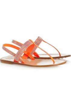 Pedro Garcia|Zulimar Swarovski crystal-embellished coated-canvas sandals