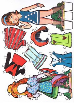 Spanish paper doll with regional costume of Paper Toys, Paper Crafts, Paper Dolls Printable, All Paper, Vintage Paper Dolls, Retro Toys, Christmas Paper, Doll Clothes Patterns, Beautiful Dolls