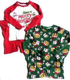 Lot of 2 pairs of Boys Size 6 Joe Boxer Pajama Sets, Long Sleeve/Pants, Christmas. $12.99 FREE SHIP!