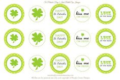 Free St Paddy's Day printables and labels.