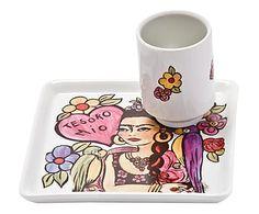 Jogo para Lanche Flores Frida Kahlo