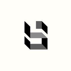 Sb Architecture Monogram Logo by Richard Baird. (Available). #logo #design #branding
