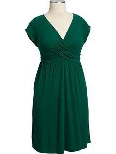 Women's Shirred Jersey Dresses $26.99