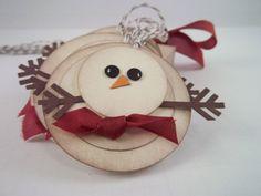 Bonhomme de neige Noël cadeau Tags-Vintage par TreasuredCollections