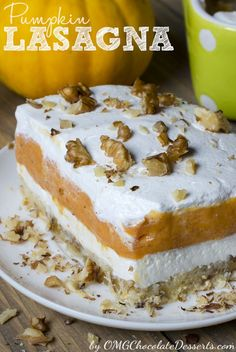 Pumpkin Lasagna is the perfect pumpkin fall dessert!