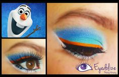 Check out this Olaf from Disney's Frozen inspired eyeshadow on YouTube - youtube.com/eyedolizemakeup