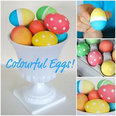 punch, craft, polka dots, duck tape, vibrant colors, easter eggs, color egg, tapes, dyes