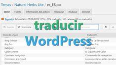 Traducir WordPress Texts, Messages