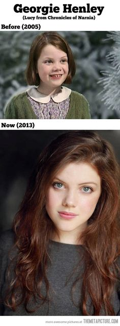 Georgie Henley then and now…  Holy Aslan!