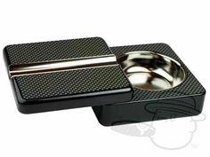 Twist Top Ashtray - Carbon Fiber - Best Cigar Prices